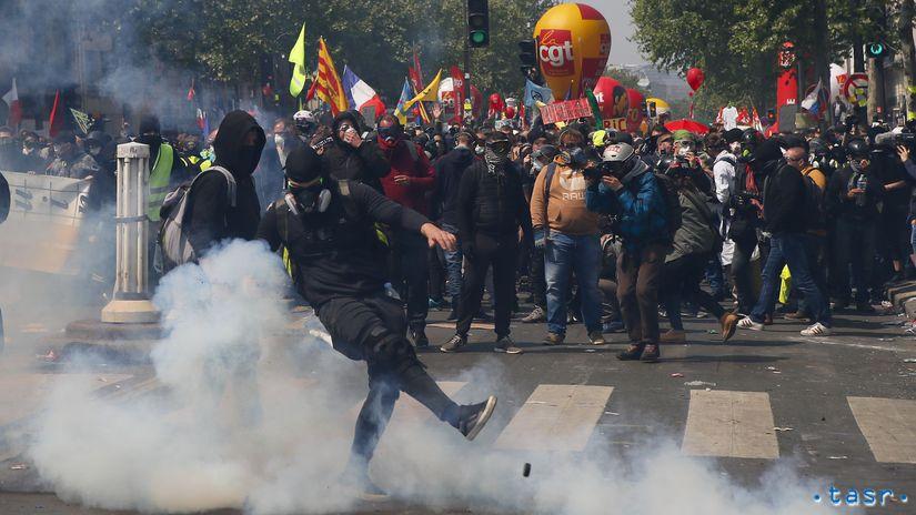 Francúzsko, prvý máj, demonštrácie, Paríž