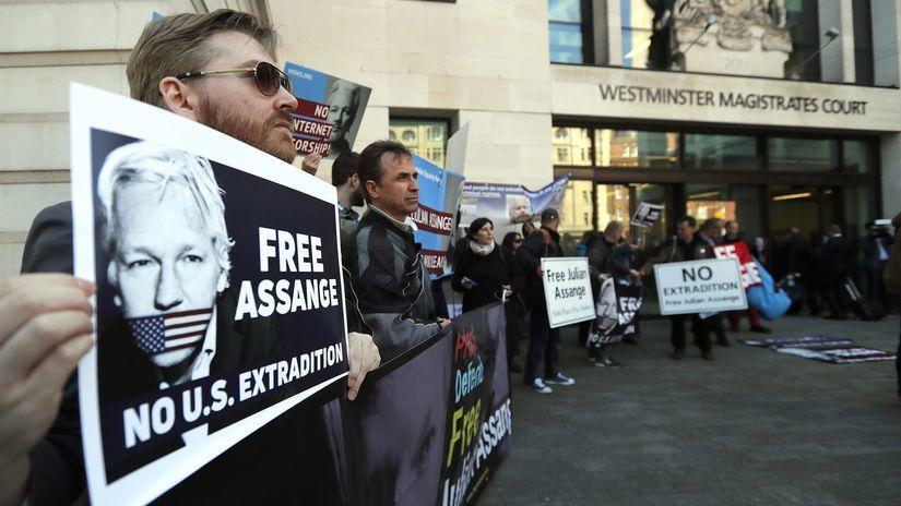 londýn, julian assange, súd