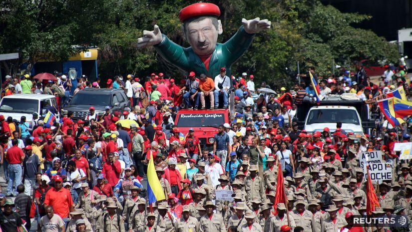 venezuela, caracas, demonštrácia,