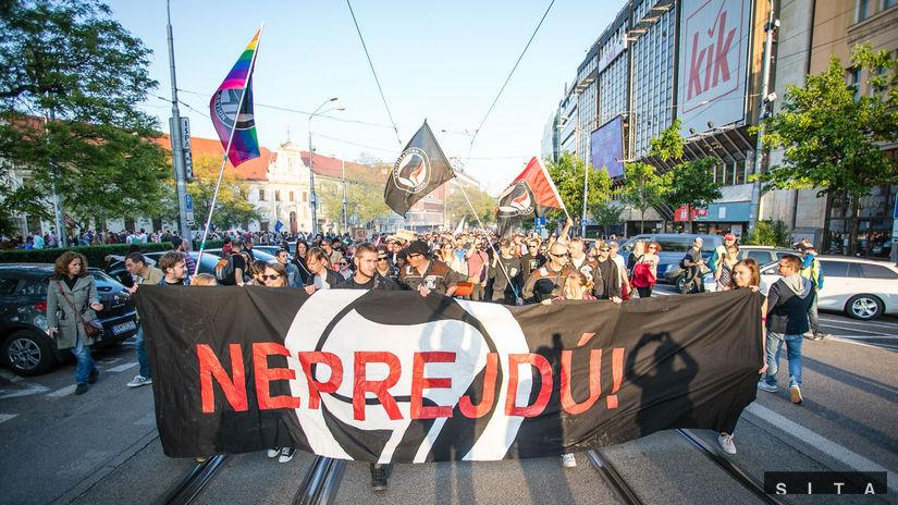 PROTEST: Antifašistická mobilizácia, ľsns,...