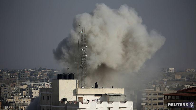 izrael, palestína, pásmo gazy, dym