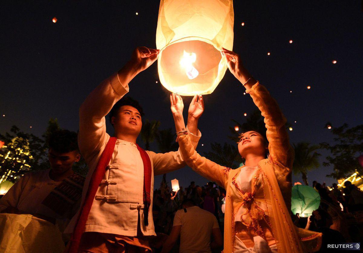 Čína, lampión šťastia