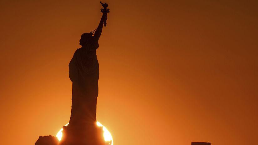 New York, USA, Socha slobody, Amerika