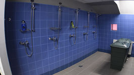 Steel aréna, šatňa, sprchy