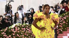 2019 MET Museum Costume Tenistka Serena Williams v kreácii Atelier Versace. Benefit Gala