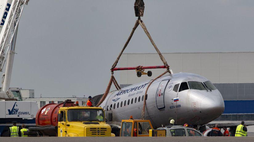 Rusko lietadlo Aeroflot suchoj superjet havaria
