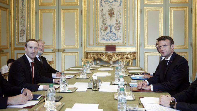 Francúzsko / Facebook / Macron / Zuckerberg /...