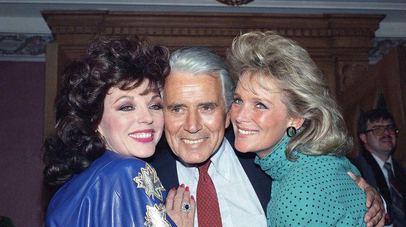 John Forsythe ,  Joan Collins a Linda Evans