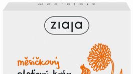 Vyživujúci pleťový krém s výťažkom z nechtíka a vitamínu E od značky Ziaja.
