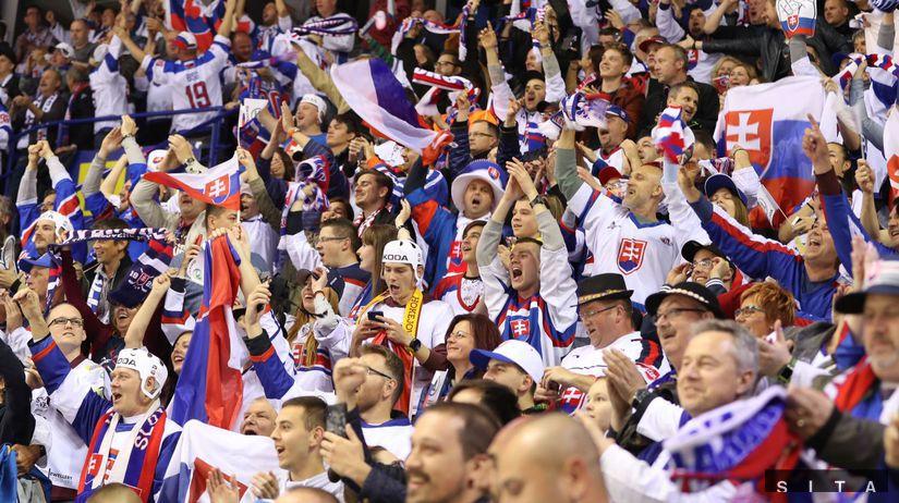 HOKEJ-MS: Slovensko - Kanada fanúšikovia