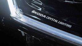 Škoda Superb - svetlá Crystal Lightning