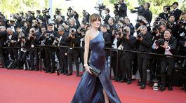 Bývalá topmodelka Carla Bruni Sarkozy vyzerala očarujúco.