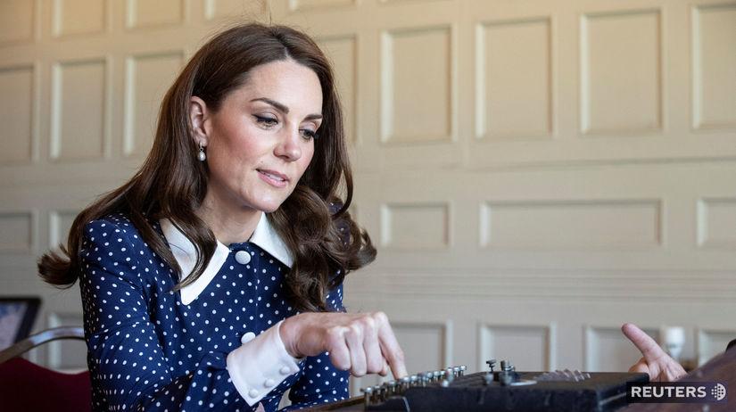 ojvodkyňa Catherine z Cambridge na návšteve...