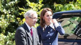Vojvodkyňa Catherine z Cambridge na návšteve Bletchley Park pri príležitosti výstavy D-Day Exhibition.
