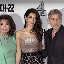 George Clooney, jeho manželka Amal Clooney a svokra Baria Alamuddinová