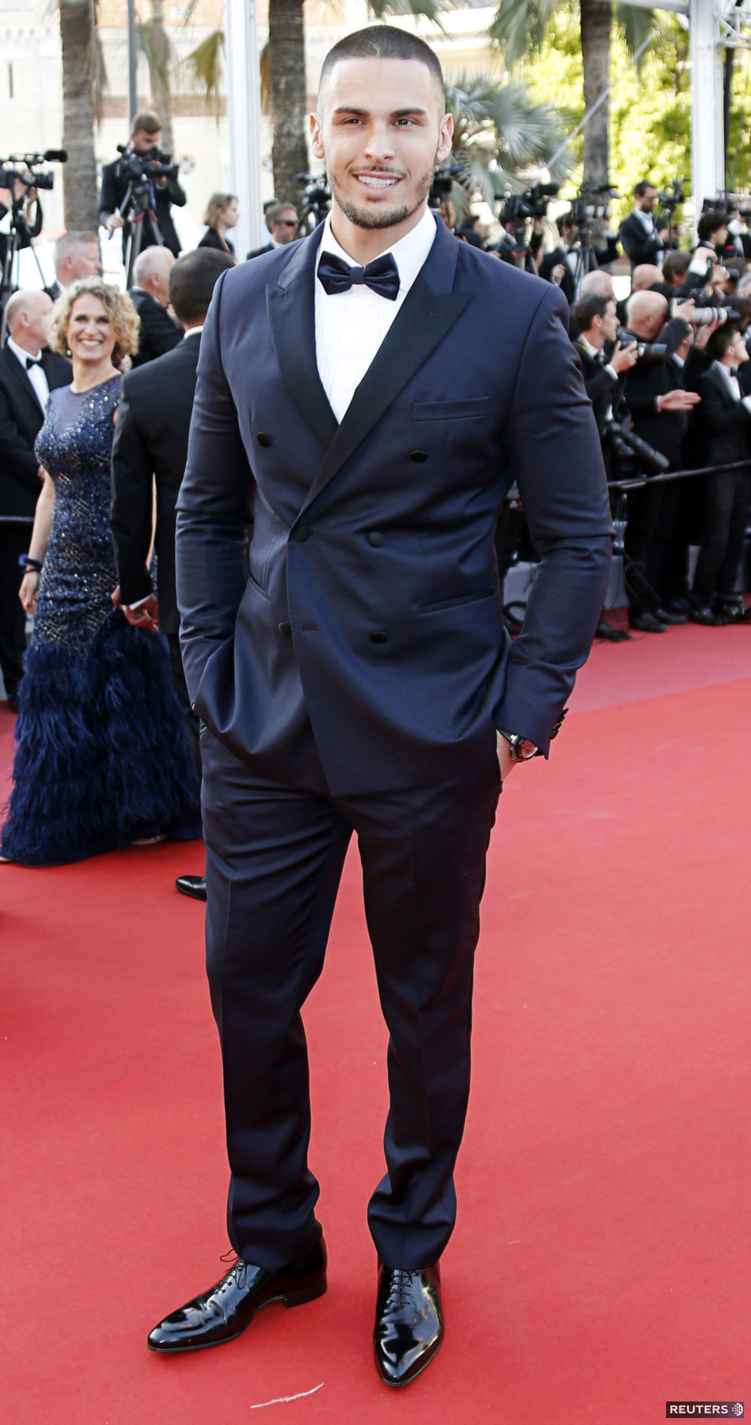 Model Baptiste Giabiconi na premiére filmu...
