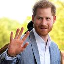 Princ Harry, vojvoda zo Sussexu na zábere z návštevy detskej nemocnice v Oxforde.