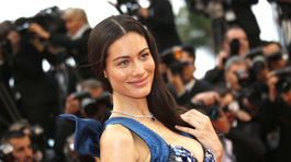 Modelka a moderátorka Marica Pellegrinelli sa tiež objavila v Cannes.