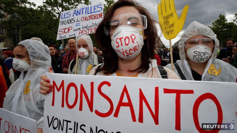 Francúzsko / protest / Monsanto