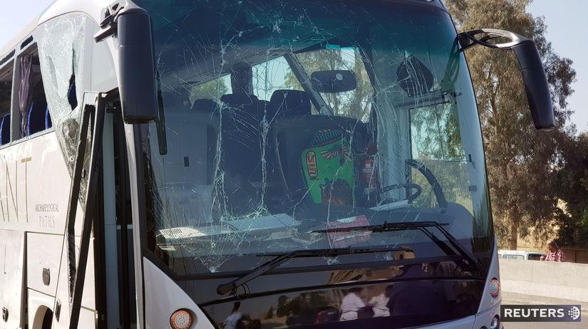 egypt / autobus / bombový útok /