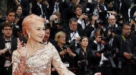 Herečka Helen Mirren v kreácii Elie Saab Haute Couture.