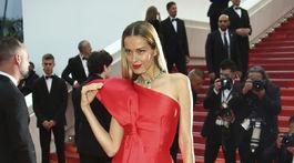 Česká modelka a filantropka Petra Němcová na premiére filmu La Belle Epoque.