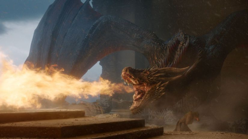 hra o tróny, game of thrones, drogon,