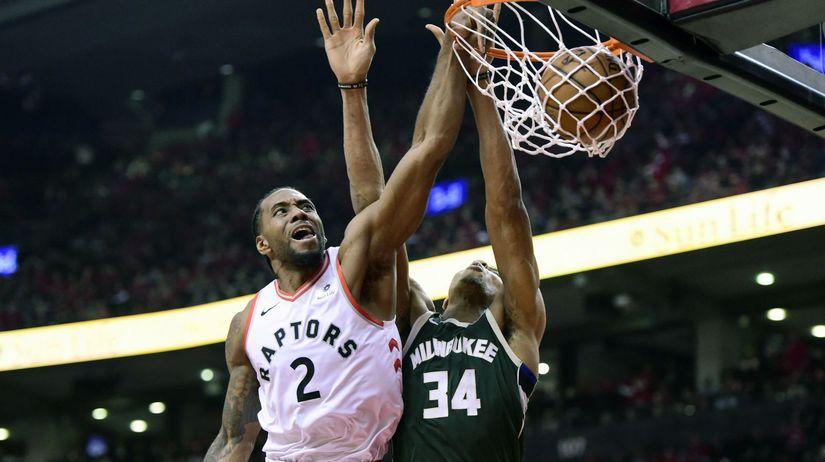 Basketbal NBA play off Toronto Milwaukee