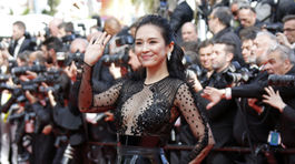 Čínska herečka Zhang Ziyi v kreácii Zuhair Murad Haute Couture.