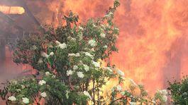 požiar, polus, ubytovňa