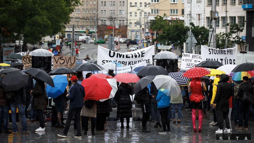 protest, zhromaždenie, kultúra, bratislava,...