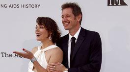 Herečka Milla Jovovich a jej manžel Paul W. S. Anderson.