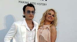 Herečka Pamela Anderson a jej syn Brandon Lee.