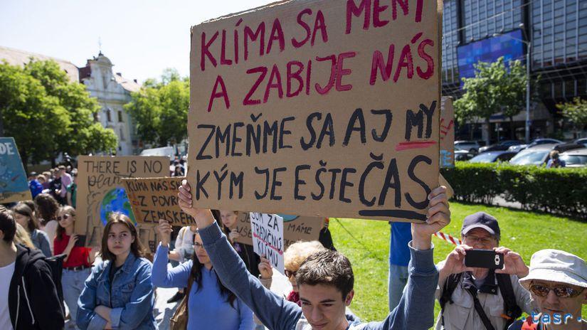 SR / Bratislava / Študenti / Klíma / Štrajk /