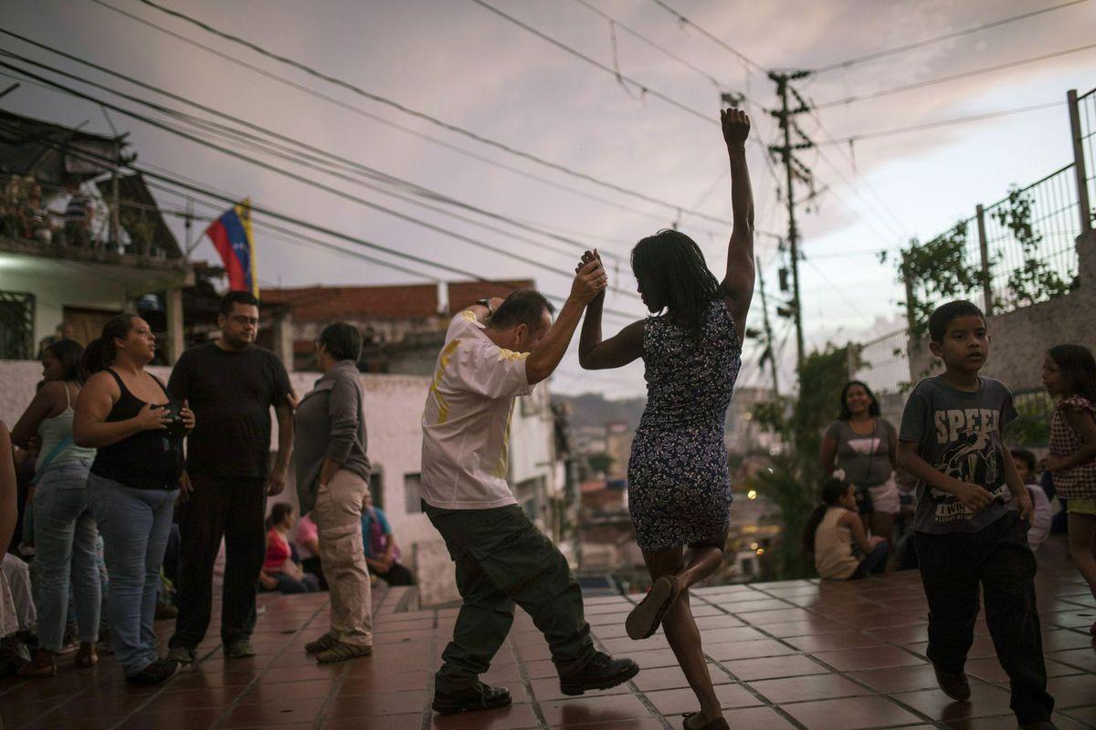 tanec, ulica, Venezuela