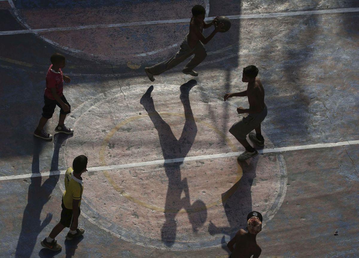 Venezuela, basketball, hra, deti, chlapci