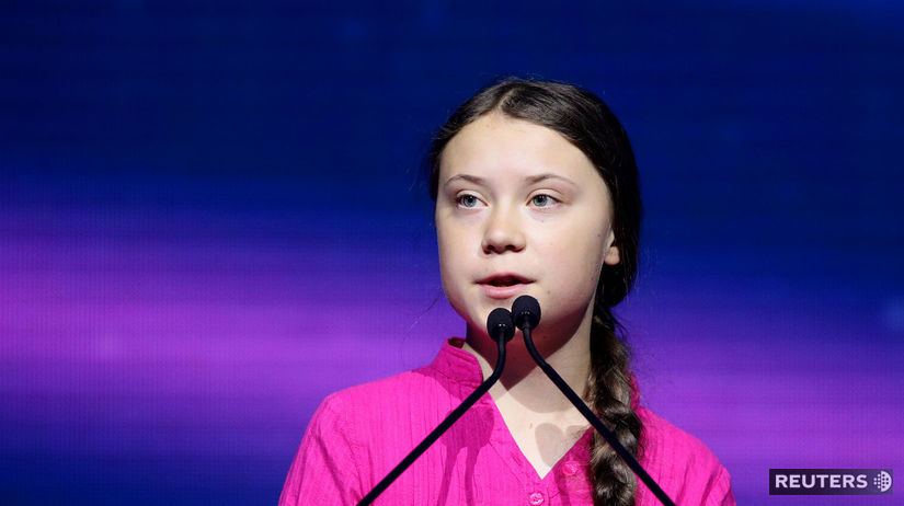Greta Thunbergová / klíma /