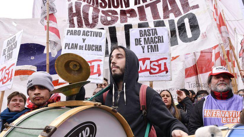 Argentína / Buenos Aires / štrajk /