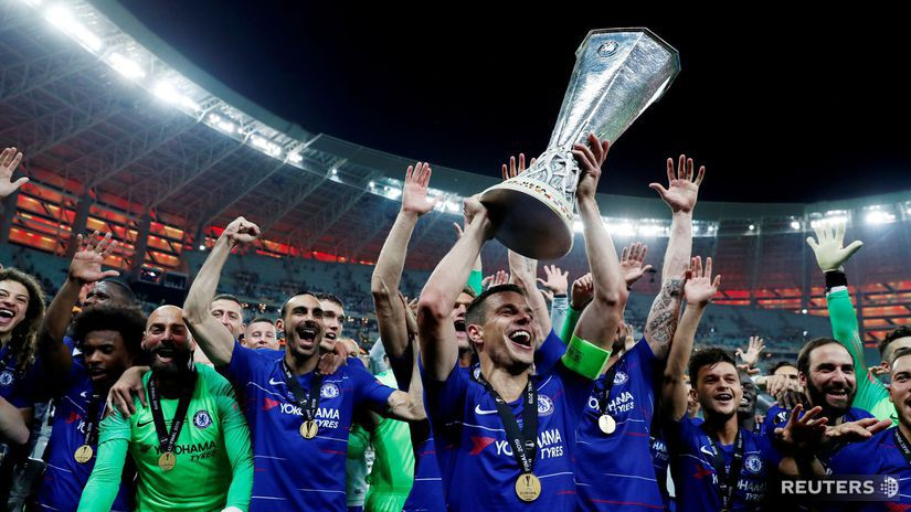 Futbalisti Chelsea, radosť