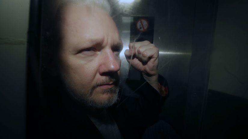 USA WikiLeaks Assange londýn