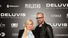 Riaditeľka Fashion TV Gabriela Drobová a dizajnér Fero Mikloško.