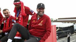 Anglicko Futbal LM finále Liverpool prehliadka klopp