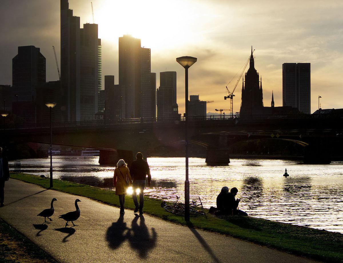 Frankfurt, Nemecko, mesto, rieka, Main, mohan