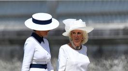 Melania Trump (vľavo) a vojvodkyňa z Cornwallu Camilla
