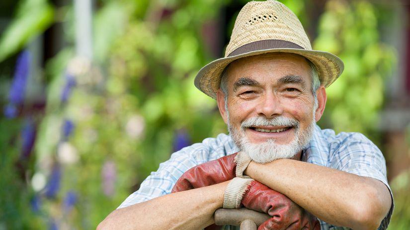 ujo, dedo, dôchodca, senior