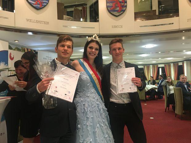 Chlapci z Modry, budúci vinári, dvorili Miss Luxemburg