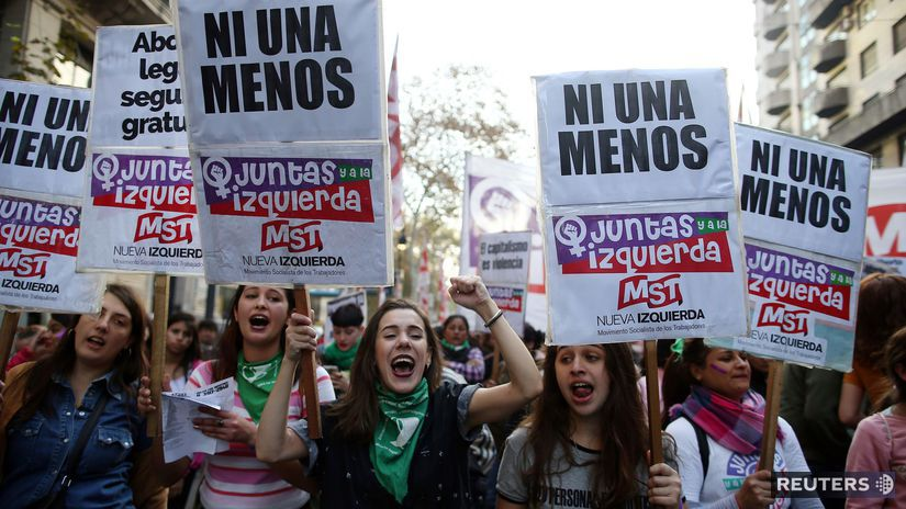 Argentína / protest / násilie na ženách /