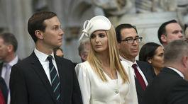 Ivanka Trump a jej manžel Jared Kushner počas návštevy Buckinghamského paláca.