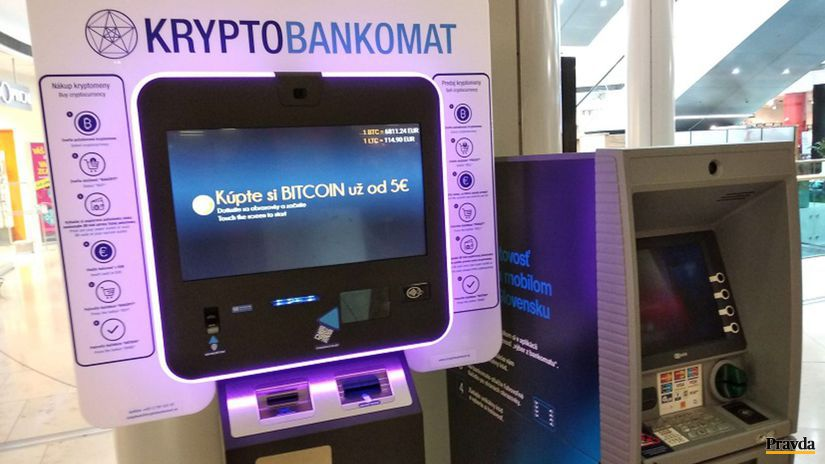 kryptomena, krypto bankomat, bitcoin