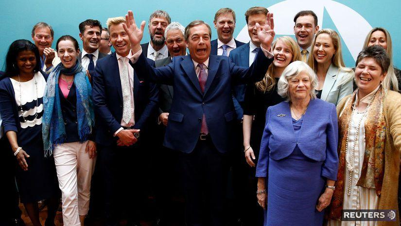 Strana brexitu, Nigela Farage, británia,